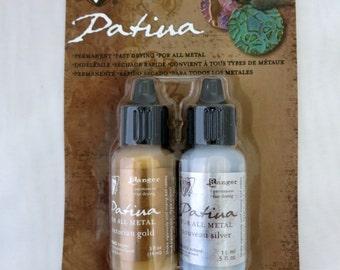 Vintaj Patina Kit, Treasured Heirloom, Paint on Patina, Fast Drying, Water Soluble, 2 Blendable Colors