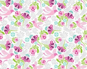 Bloom Main Pink - Fit & Bloom - Fit and Bloom - Patty Young - Riley Blake Designs 100% Quilters Cotton