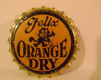 Vintage Felix Orange Dry Bottle Cap