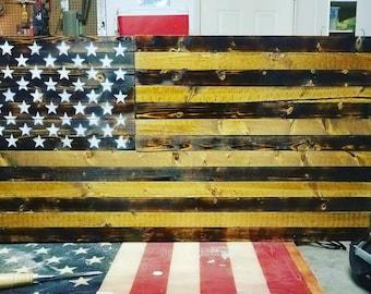 Custom military logo Wooden American Flag art not concealment flag, USMC, US Army, US Navy, Air Force, man cave, veteran, groomsman gift
