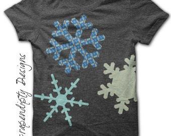 Snowflake Iron on Transfer - Winter Iron on Shirt PDF / Snowflake Shirt / Cute Kids Clothes / Girls Clothing One Piece / Printable IT142-P
