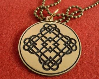 Celtic love knot pendant