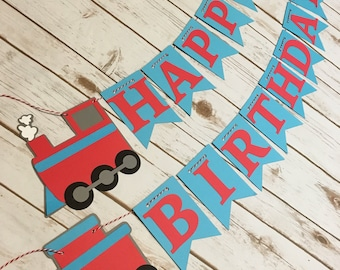 Train Happy Birthday Banner, Train Birthday Banner, Train Banner, Chugga Chugga Choo Choo, Train Birthday, Trains for Two, Boy Birthday