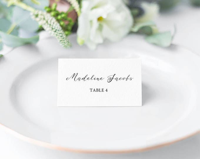 Featured listing image: Mirabelle, Printable Calligraphy Style Place Cards/ Seating Cards