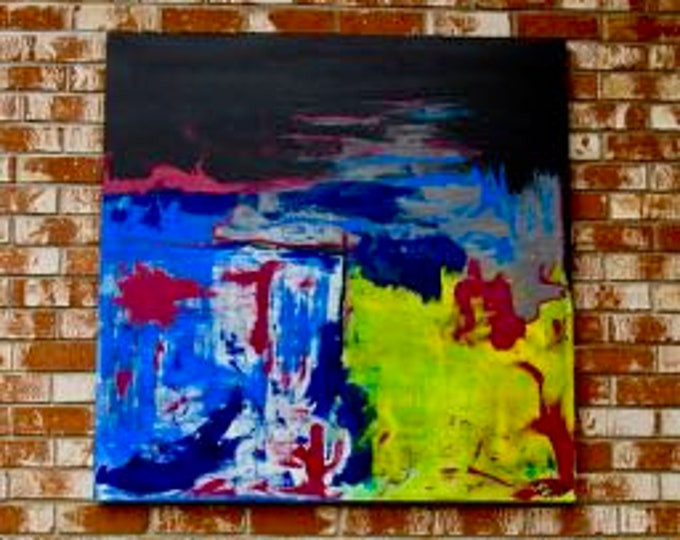 """Abstract Painting """"Going With the Flow"""""""