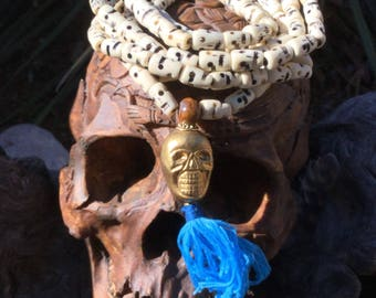 108 Bone Bead Impermanence Mala: Purity & Healing