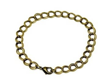 10 mesh lined, 8mm bronze charms for bracelets, charms
