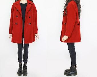 1990s Vintage Red Autumn Coat for Women