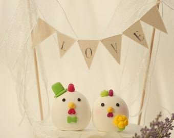 chicken, Rooster cake topper, wedding cake topper