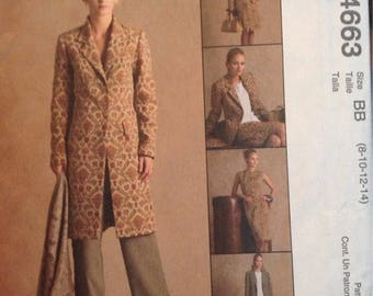 Misses and petite Fall back to work wardrobe McCalls sewing pattern