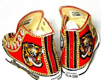 Gucci Inspired custom shoes bling strass sneakers