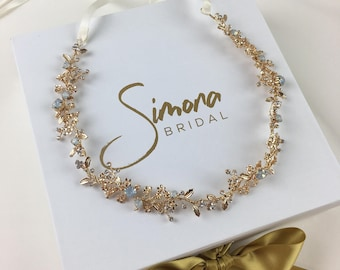 Bridal Hairpiece, Bridal Hair Vine, Wedding Hair Piece, Hair Vine, Gold Hair Piece