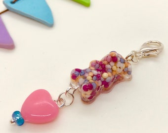 Gummy Bear filled with Sprinkles (Actual Size) Charm