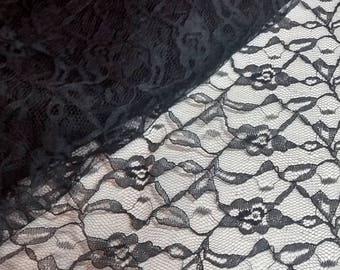 Vintage Black Lace Fabric