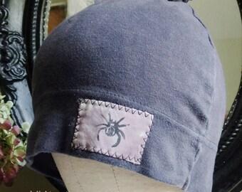 Touffe gris unisexe adulte chapeau Pull en coton avec Patch Spider