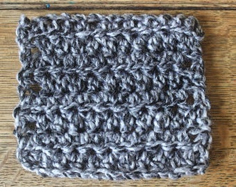 Black Friday | Cyber Monday | Set Of Four Grey Square Coasters | Crochet Gift | Home Decor | Stocking Filler | Grey | For Her | New Home