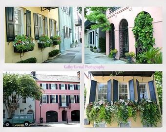 Charleston Photography, Charleston Window Flower Boxes, Charleston Rainbow Row, Charleston South Carolina Photographs, Charleston Note Cards