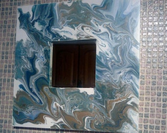 Mirror Poured Paint frame