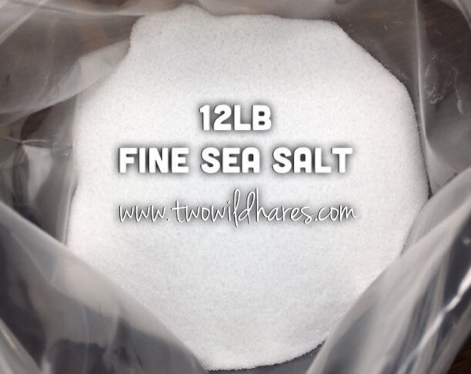12LB. FINE SEA Salt, Food Grade, Fine Granulated, Two Wild Hares