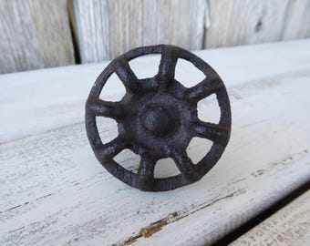 Vintage Style Water Faucet Knob ~ Rustic Cast Iron Drawer Pull ~ Decorative Urban Farmhouse Industrial