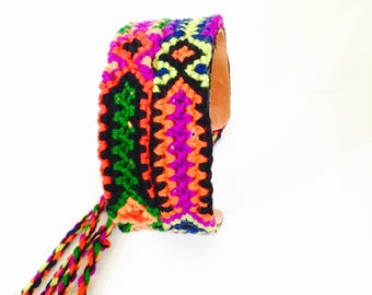 Friendship bracelet with Fringes, Colorful Bracelet, Bohemian bracelet