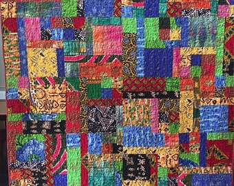 On Sale Dreaming of My Ancestral Home 60x75 African lap quilt