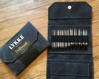 "Lykke 5"" Interchangeable Circular Knitting Needle Set - Gray Denim Case"