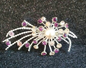 Vintage unsigned atomic shooting star brooch