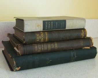 Vintage Books Brown Set of 4