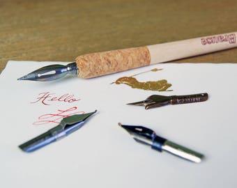 Calligraphy Dip Pen Nib Holder - Brause Cork