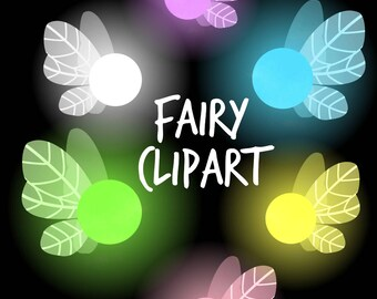 Fairy Clipart, Glowing Fairy Clipart, Fairy Graphics, Fairies Clip Art for personal and commercial use, scrapbooking,  planner stickers