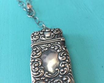 Antique Sterling Silver Trade Necklace