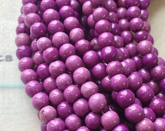 """1 Full Strand (15"""") (over 85 pieces) of 4 mm Purple Turquoise Gem Stone Beads (gz sdu - t.g)"""