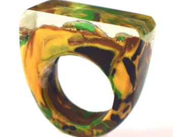Camouflage Rings, Camo Rings, Camouflage Jewelry, Naturescape Rings, Clay Rings, Resin Rings, Exclusively at ResinHeavenUSA