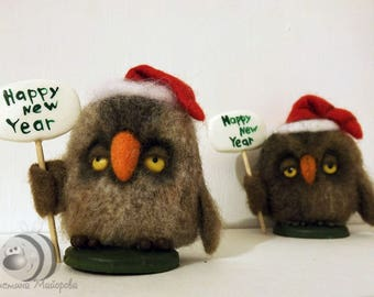 """Felted owl """"Unbridled joy"""""""