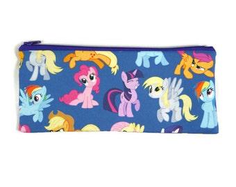 My Little Pony Pencil Case, Toiletry Bag, Cosmetic Bag, Makeup Bag, Tampon Case, Zipper Pouch, Coin Purse