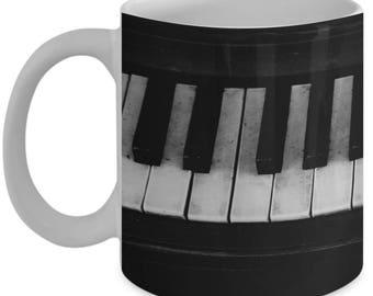 Piano Keys Novelty Coffee Mug