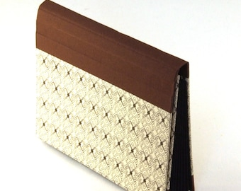 Accordion Folder - Memo Pocket small brown delicate