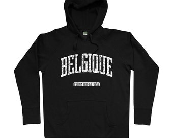 Belgique Hoodie - Men S M L XL 2x 3x - Belgium Hoody, Sweatshirt, Walloon, Brussels, Bruxelles, Liege - 4 Colors
