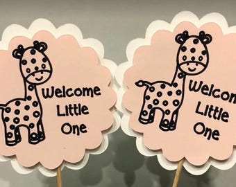 Welcome Little One Cupcake Toppers Set of 12