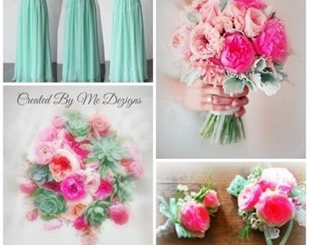Wedding Flower Package 12 pieces custom made to order