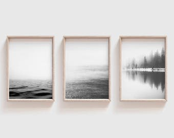 Set of 3 Prints| Coastal Print Set| Seascape Printable Wall Art| Minimalist Posters| Minimalist Ocean Art Prints| Trending Tumblr Room Decor