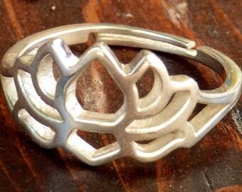 Adjustable Lotus Flower Ring R-23