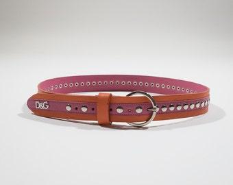 DOLCE E GABBANA - leather belt