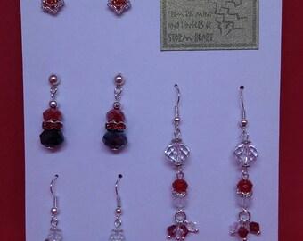 Ravishing Red Earring quartett