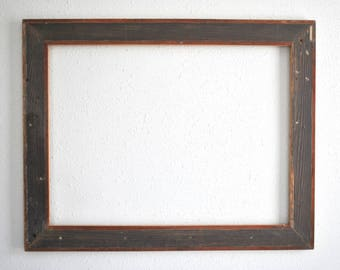 18 x 24 Distressed Rough Interior Ship Lap Wood Frame- Long Neglected Farmhouse, Rustic and Reclaimed One-of-a-kind