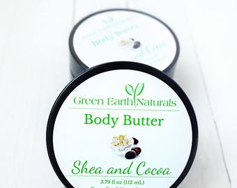 Whipped Body Butter - Organic - 3.79 fluid ounce - Shea Butter - Whipped Shea Butter - Vegan Body Butter - Cocoa Butter - Sensitive Skin