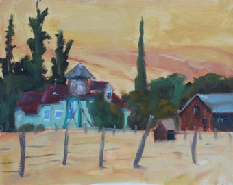 California Plein Air Landscape Oil Painting Original Wall Art San Francisco Bay Area Black Diamond Mines Antioch California Artist Artwork