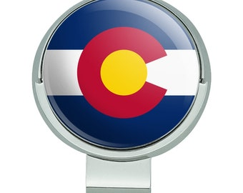 Colorado state flag golf hat clip with magnetic ball marker
