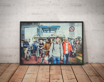 Ferry — Amsterdam Central Station // Photography, Poster, Print, Wall Decor, Home Decor, Picture, City, Urban, People